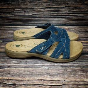 EARTH ORIGINS Blue Suede Selby Slides Sandals 8.5